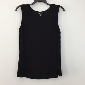 Maggie Barnes Black Shell Top Plus Size 0X